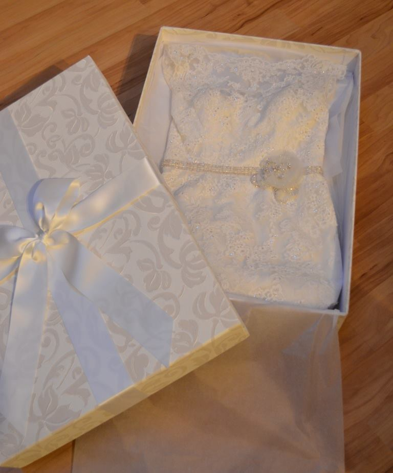 Brautkleidbox White Dream - Kundenfoto